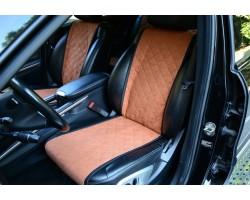 Автомобильные чехлы АVторитет, бежевые (комплект)