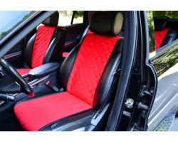 Автомобильные чехлы АVторитет, красные (комплект)