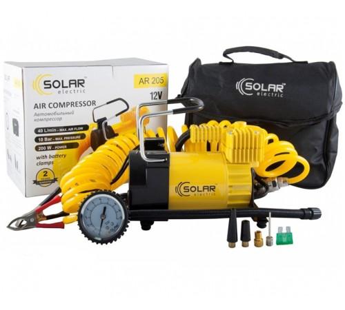 Автомобильный компрессор Solar AR205 зажимы АКБ