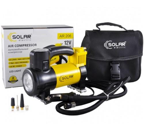 Автомобильный компрессор Solar AR206 с LED фонарем