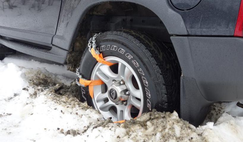 Браслеты противоскольжения использование на снегу